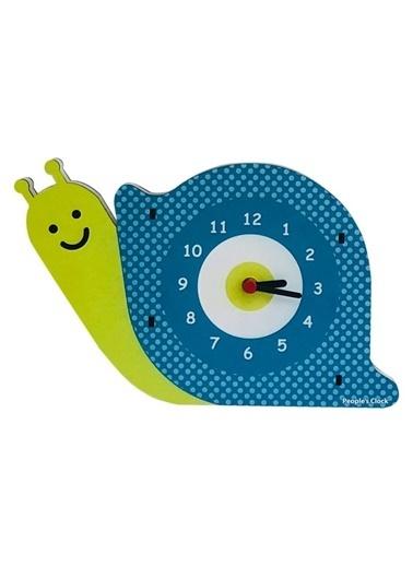 Peoples Clock Salyangoz Özel Tasarım Duvar Saati Renkli